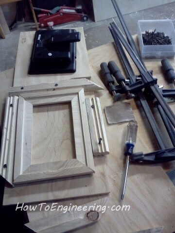 a jig for gluing the picture frame together