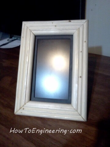 unstained wood on lcd picture frame