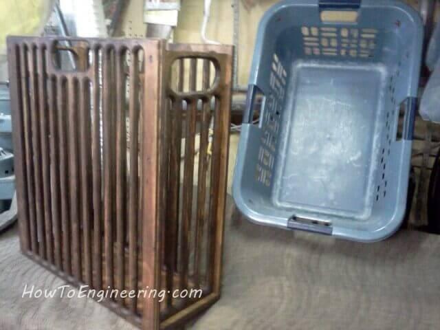 Plywood laundry basket VS plastic laundry basket