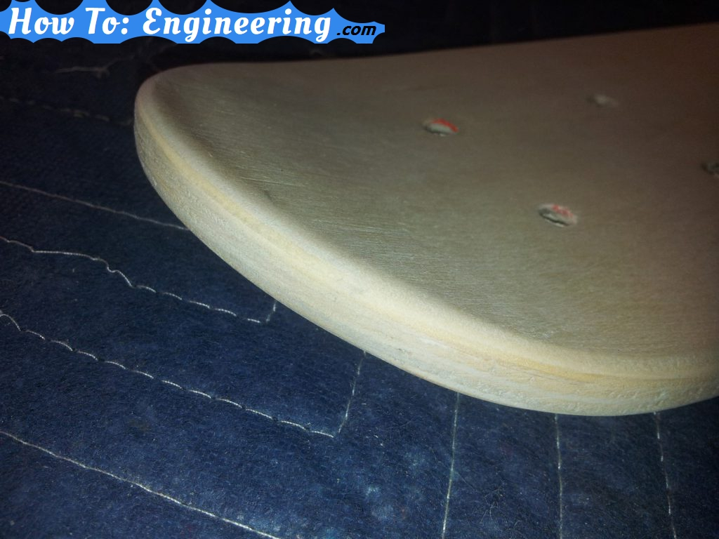 Another picture of skateboard edges rounded over