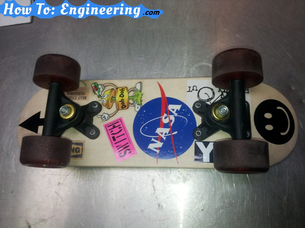 Mini skateboard put together