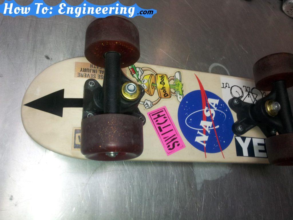 skateboard face down