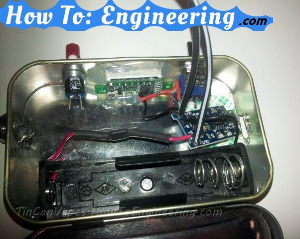 Adding charging board to vape