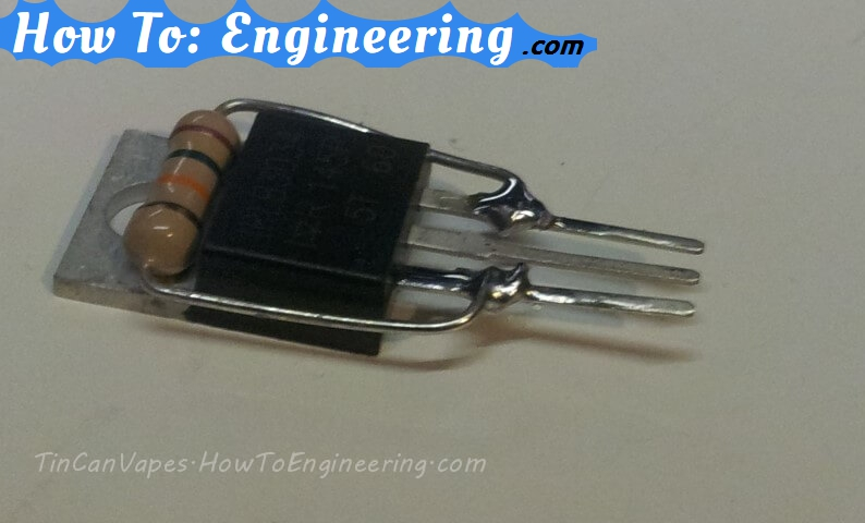 mosfet and resistor for e-cig MOD