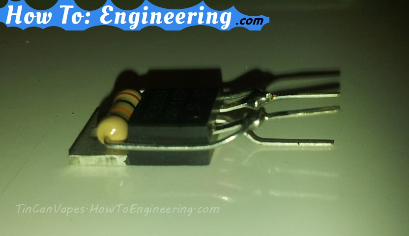 mosfet and resistor soldering