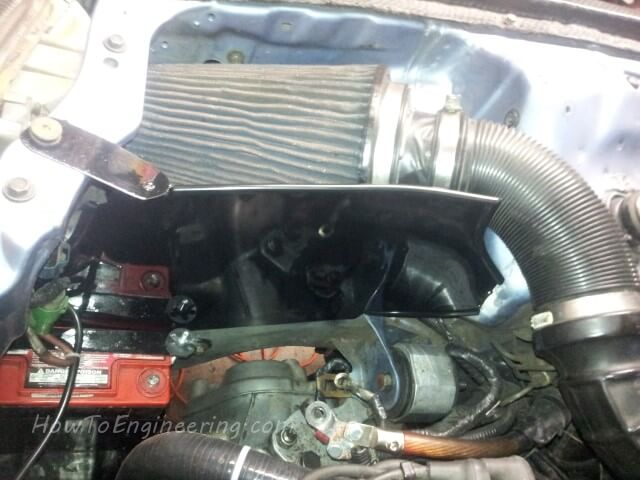 hot air block for intake air filter