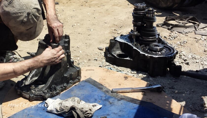 removing transmission cover to get part