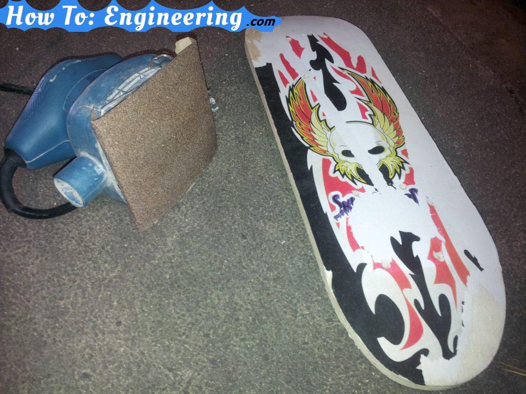 Sanding skateboard