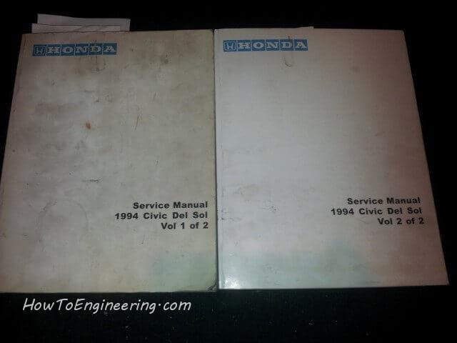 Service manual 1994 Honda civic del sol Vol 1 and 2
