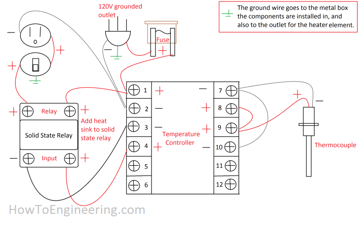 temperature controller wiring diagram temperature make a temperature controller for an aluminum metal smelter kiln on temperature controller wiring diagram