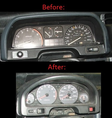 Swap CRX gauges for Intgra LS or GSR gauges.