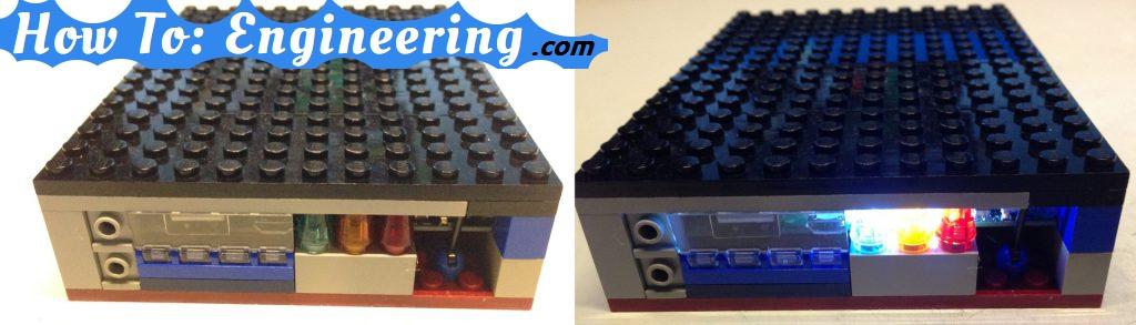 Finished LEGO power bank