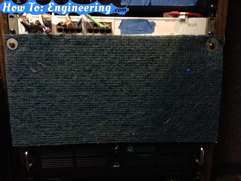 Server rack dust filter
