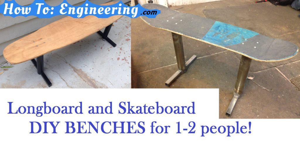 Longboard bench chair DIY