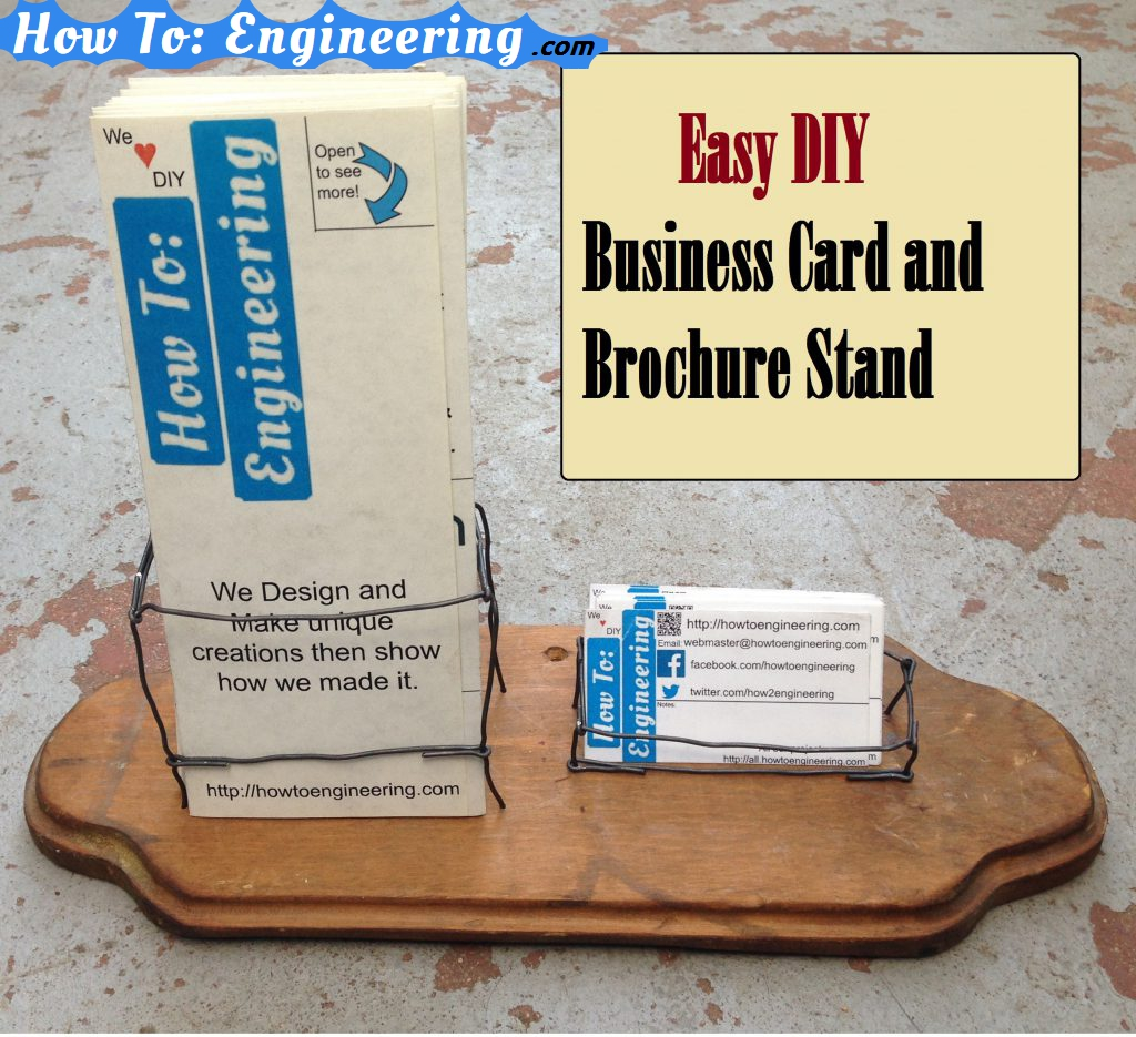 Business Card and Brochure Stand