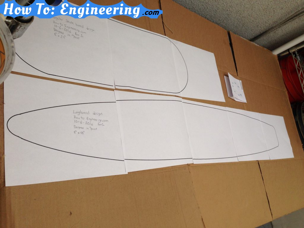 photograph relating to Longboard Template Printable titled Longboard/Skateboard Printable Templates!