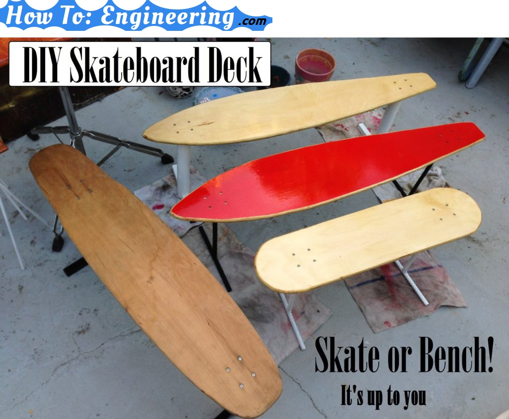 Make a skateboard wood deck