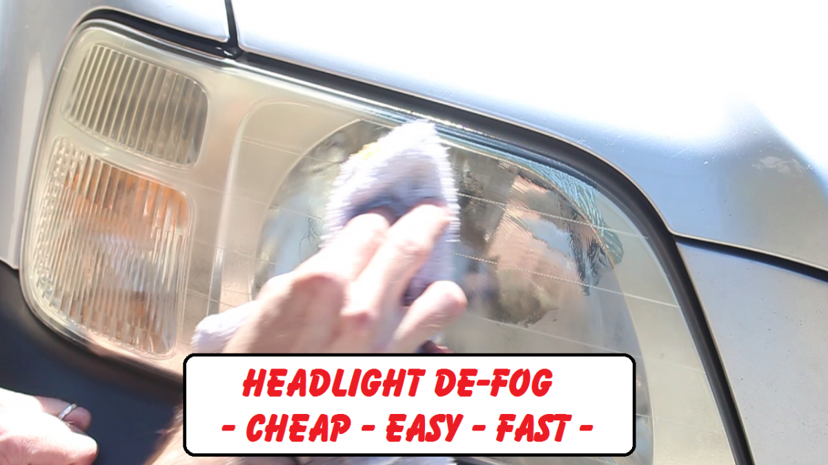 Defog frosted headlights easy and cheap.