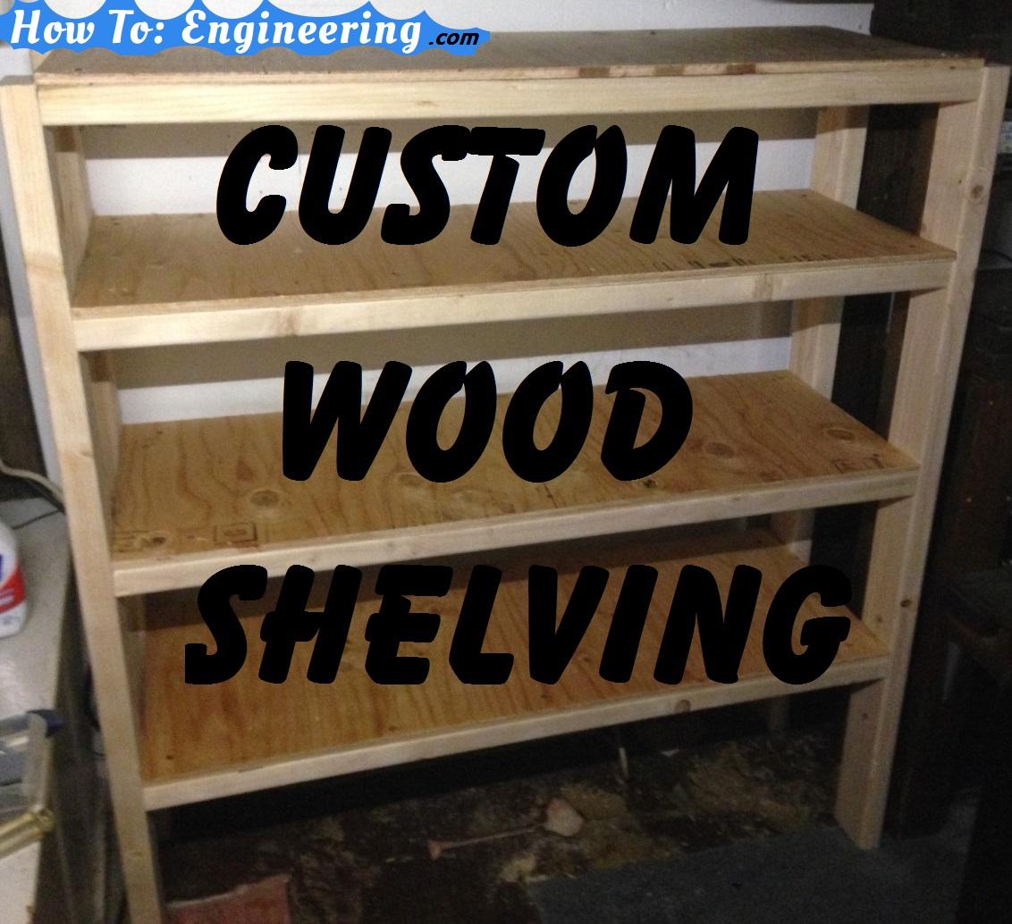 Custom Wood Shelving