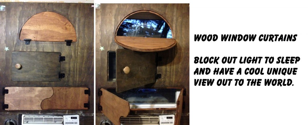 Wood window curtians