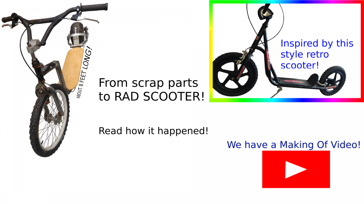 From Scrap Parts to Rad Scooter!