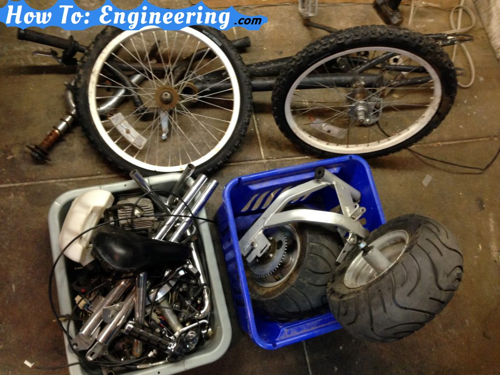 Bicycle and motorcycle scrap parts