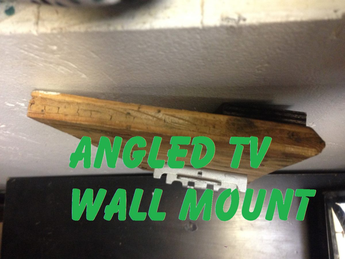 Cheap way to mount a TV at an angle