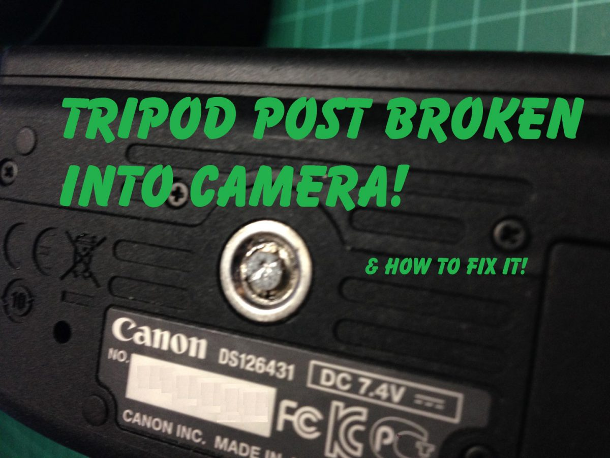 repair broken camera tripod