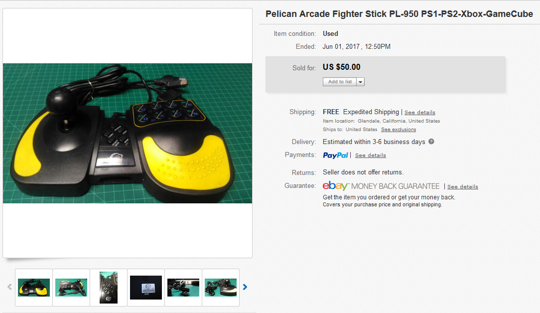 Pelican Arcade fighter stick