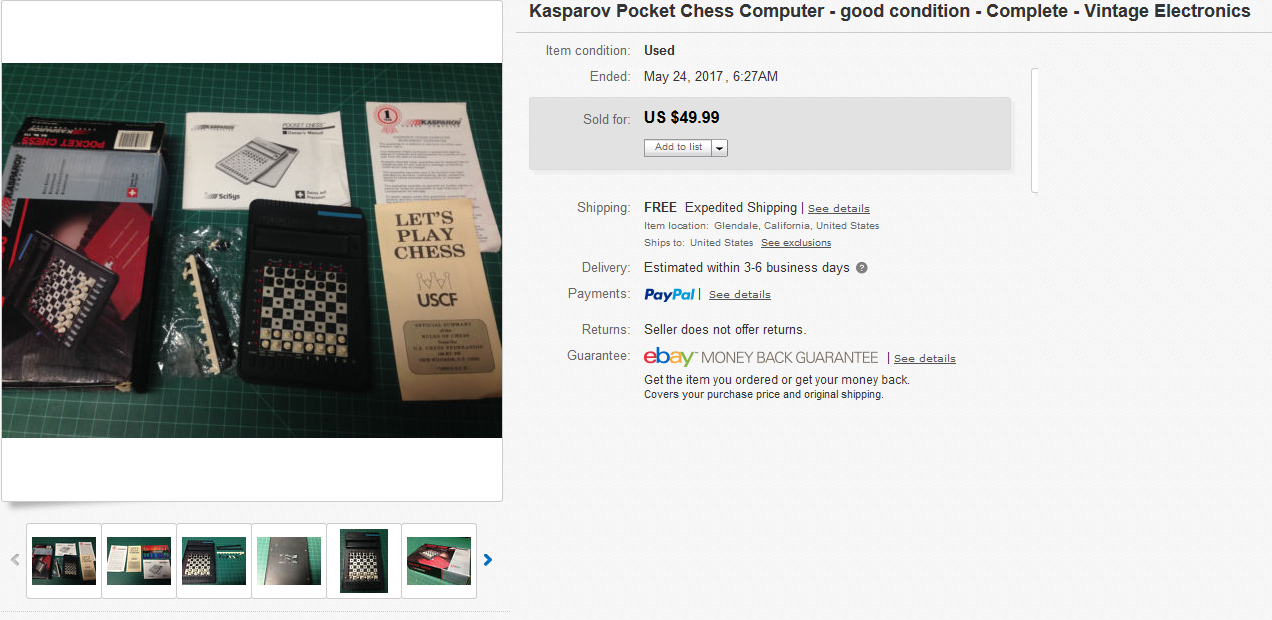 kasparov pocket chess computer