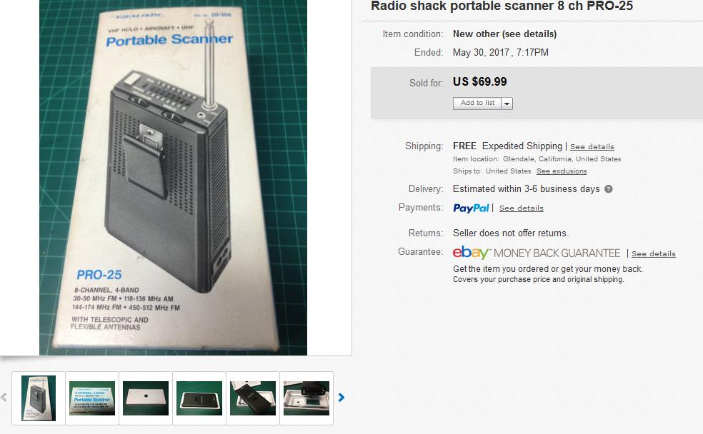 radioshack scanner